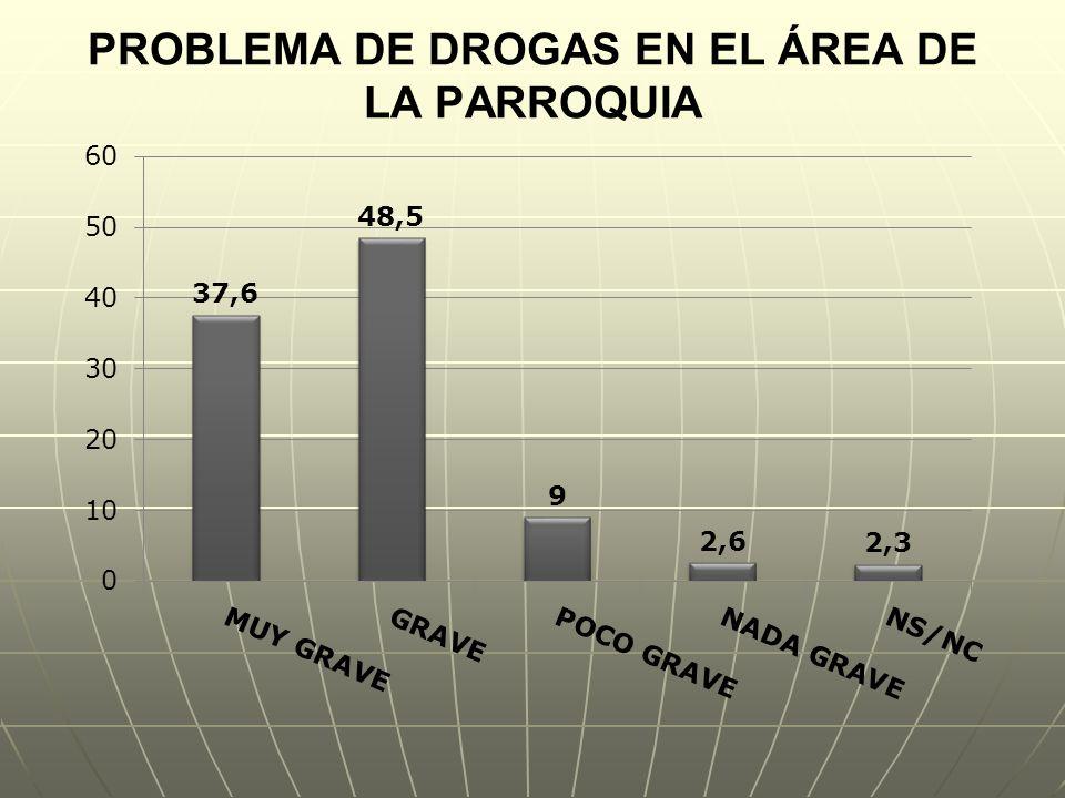 PROBLEMA DE DROGAS EN EL ÁREA DE LA PARROQUIA