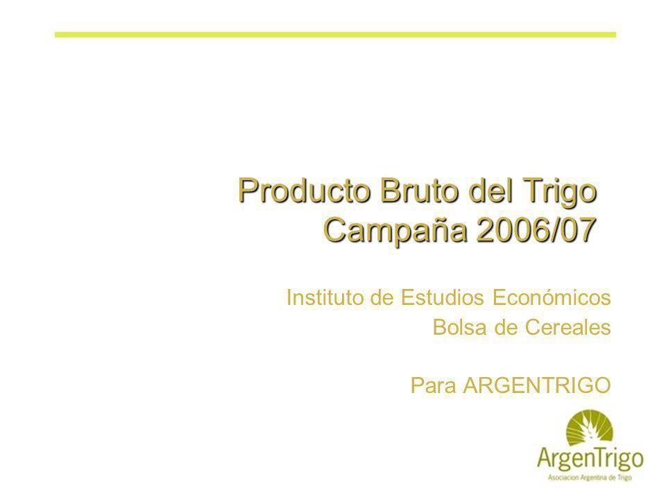 Producto Bruto del Trigo Campaña 2006/07 Instituto de Estudios Económicos Bolsa de Cereales Para ARGENTRIGO