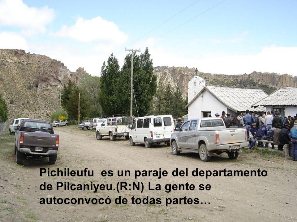 Pichileufu es un paraje del departamento de Pilcaniyeu.(R:N) La gente se autoconvocó de todas partes…