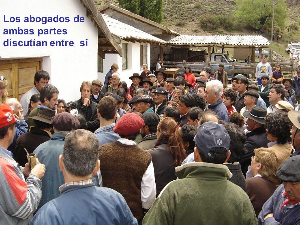 El LONCO (cacique mapuche) explicaba las leyes y los derechos de los habitantes originarios