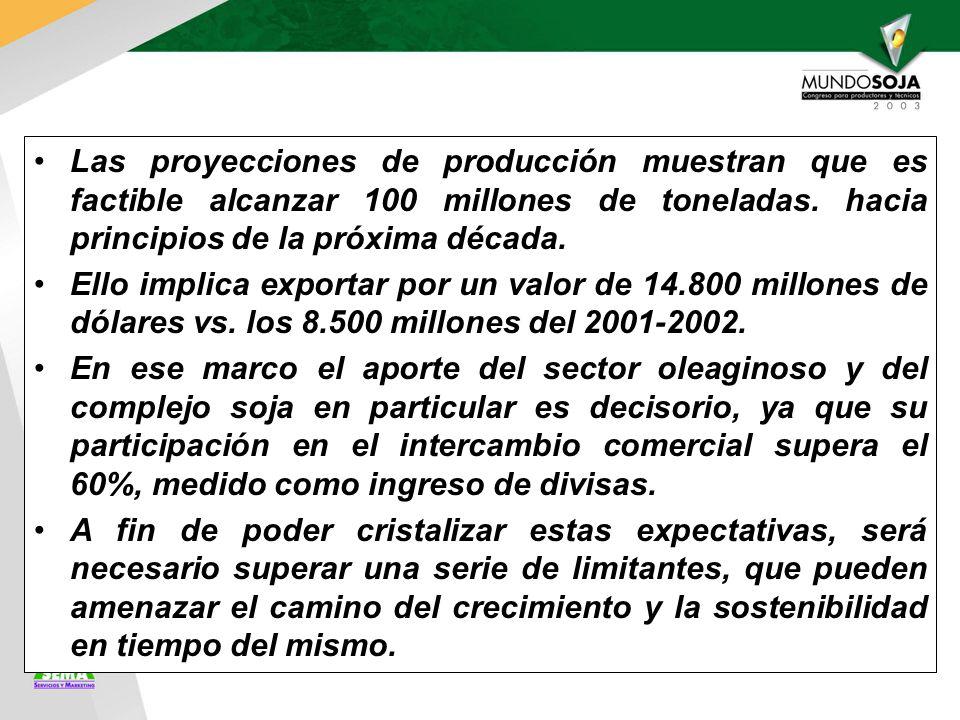 Las proyecciones de producción muestran que es factible alcanzar 100 millones de toneladas.