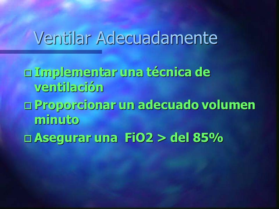 Implemente un método de Monitoreo de la Ventilación- Oxigenación o Parámetros clínicos U Auscultación U Ampexación U TA.