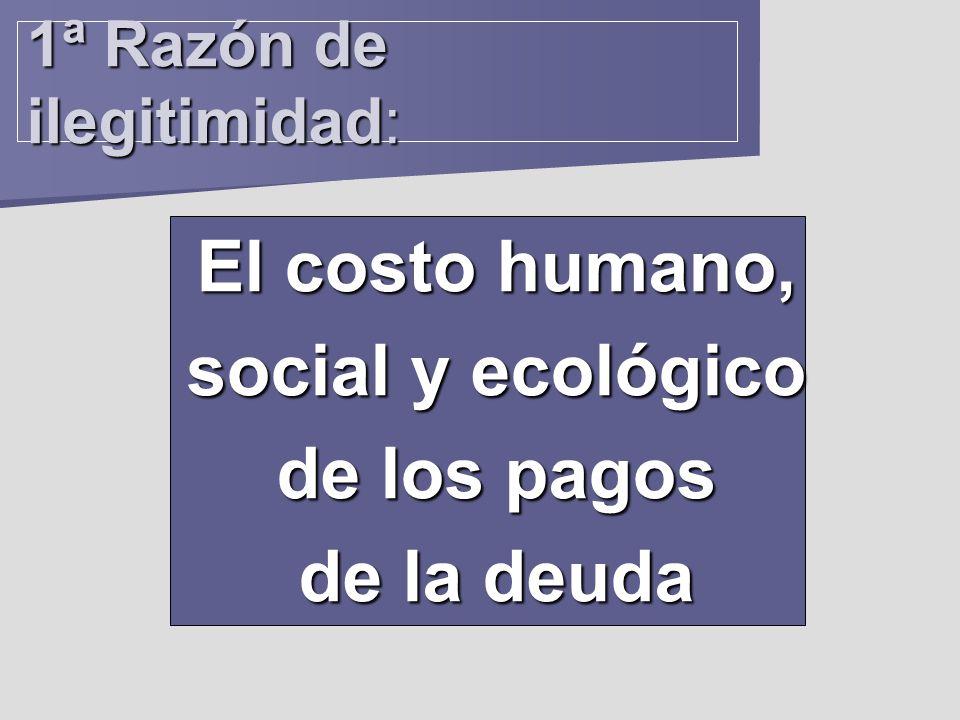 1ª Razón de ilegitimidad: El costo humano, social y ecológico de los pagos de la deuda