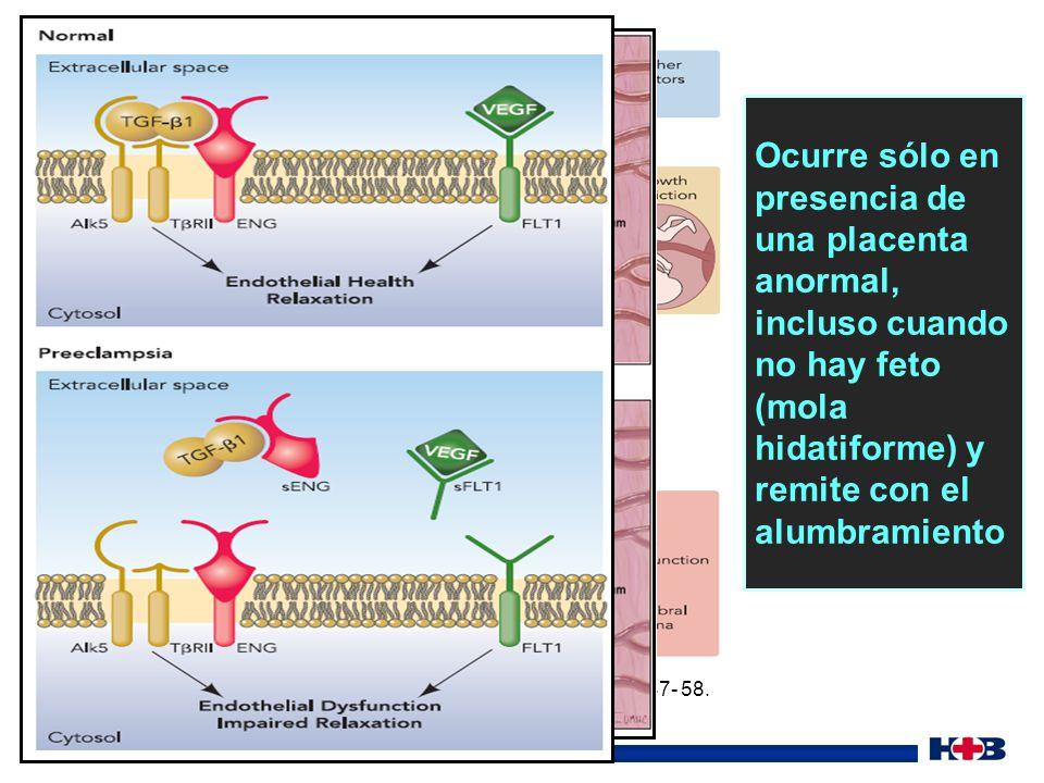 Evolución Preeclampsia severa/ Sme.