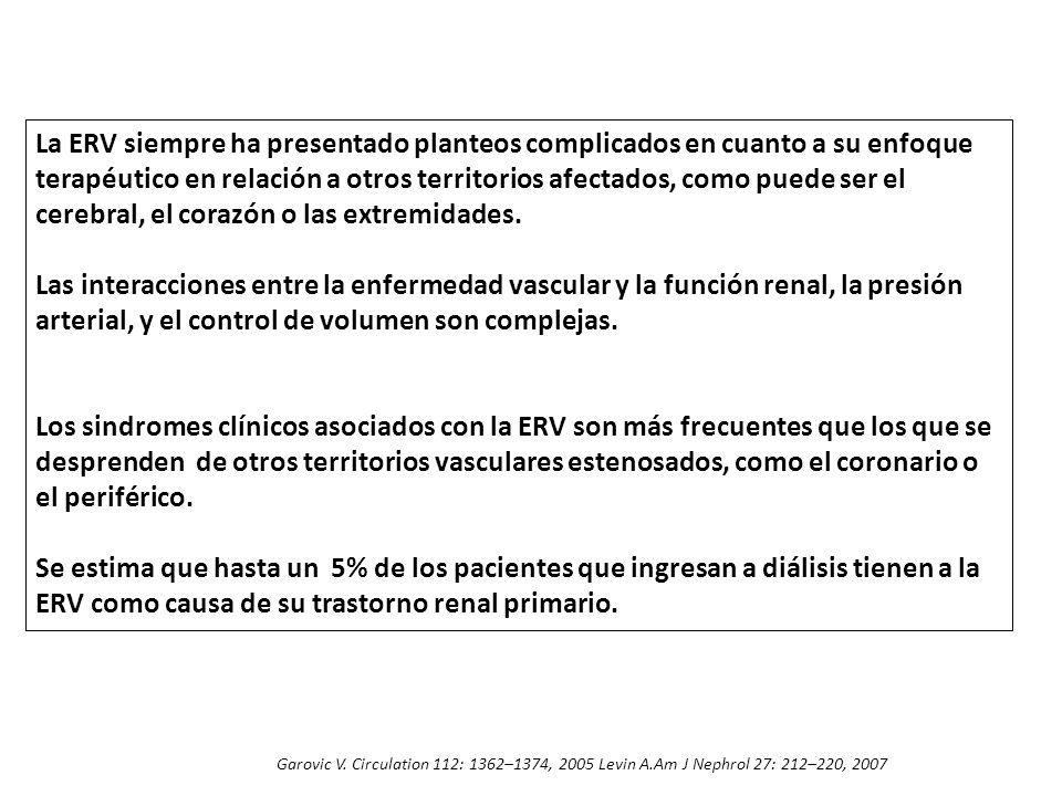 La ERV siempre ha presentado planteos complicados en cuanto a su enfoque terapéutico en relación a otros territorios afectados, como puede ser el cere