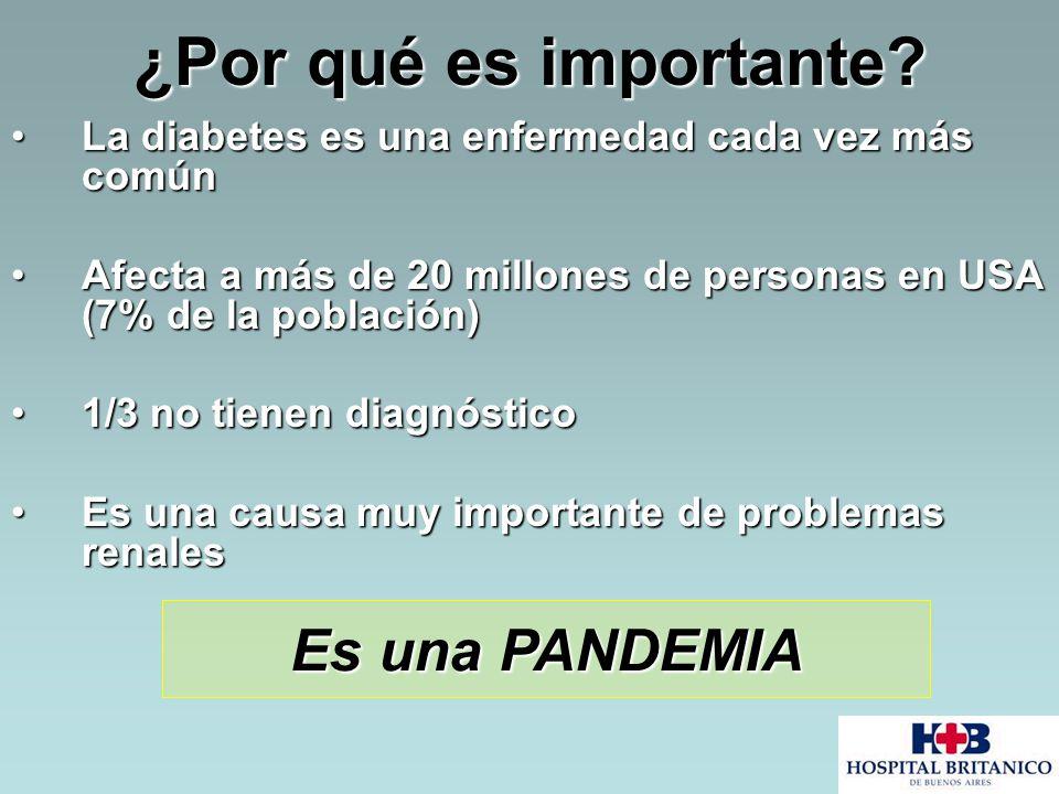 ¿Por qué es importante? La diabetes es una enfermedad cada vez más comúnLa diabetes es una enfermedad cada vez más común Afecta a más de 20 millones d