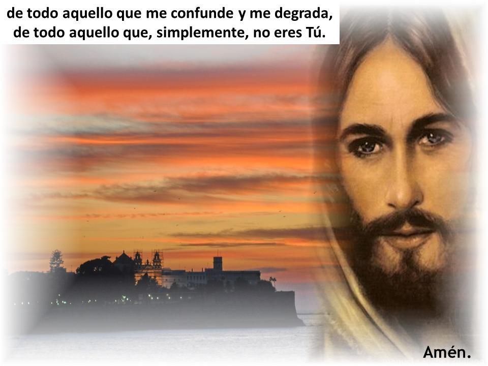 ¡Ven a mi encuentro, Jesús! Y aléjame de todo aquello que me impide ser tu testigo, de todo aquello que me aleja de tu reino, pcv