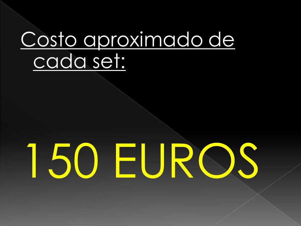 Costo aproximado de cada set: 150 EUROS