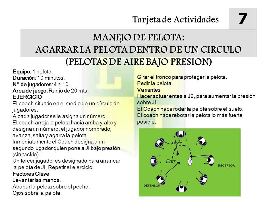 Tarjeta de Actividades 8 MANEJO DE PELOTA: CORRIMIENTO HACIA LAS BRECHAS (CARRERA DE PROFUNCIDAD) Equipo: 1 pelota.
