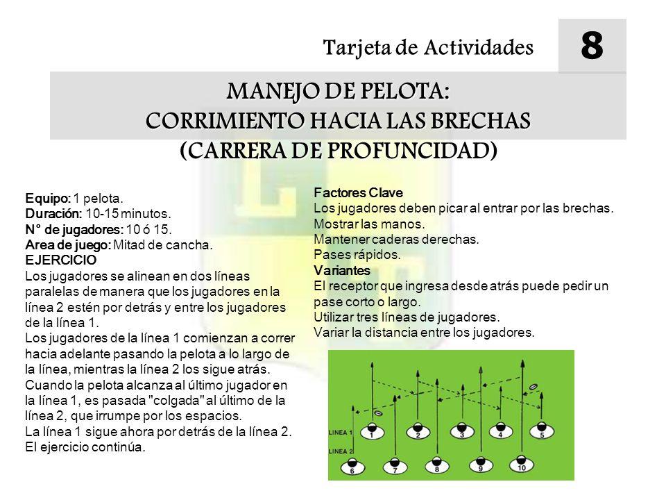 Tarjeta de Actividades 9 MANEJO DE PELOTA: VARIACIONES DE LOS ESPACIOS Equipo: 12 conos, 4 pelotas.