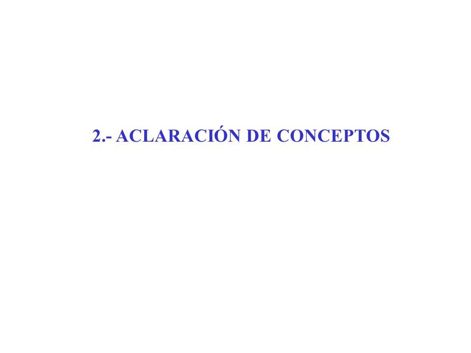 2.- ACLARACIÓN DE CONCEPTOS