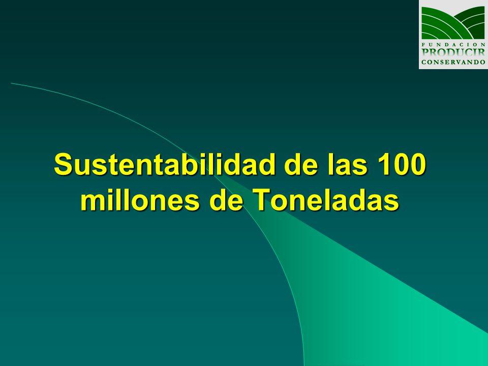 Sustentabilidad de las 100 millones de Toneladas