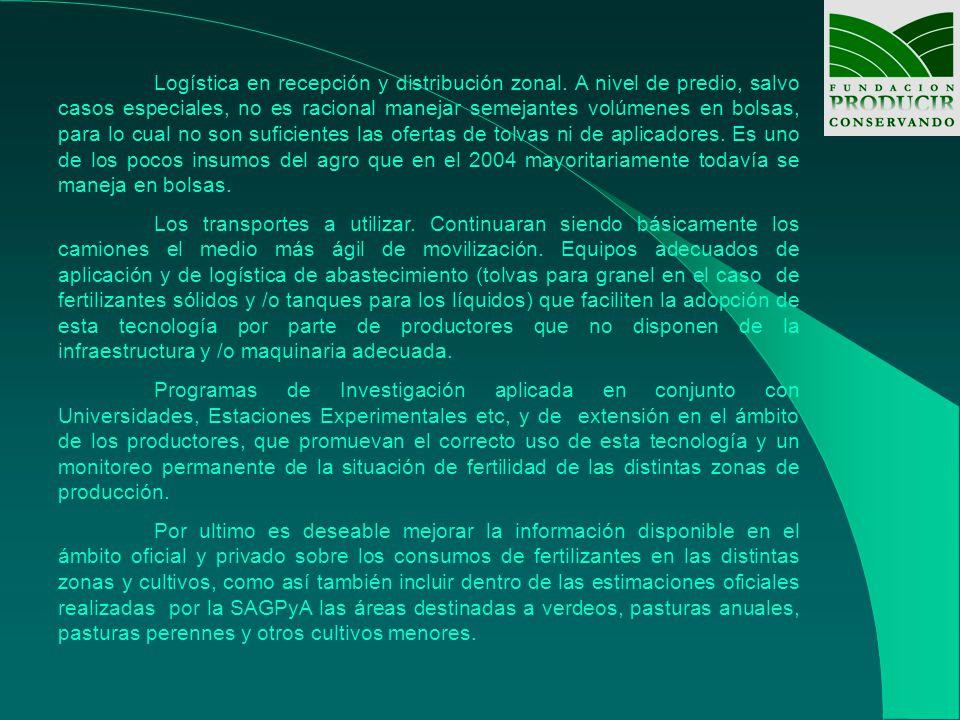 Logística en recepción y distribución zonal.