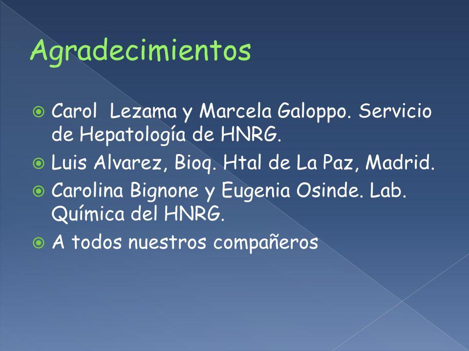 Carol Lezama y Marcela Galoppo.Servicio de Hepatología de HNRG.