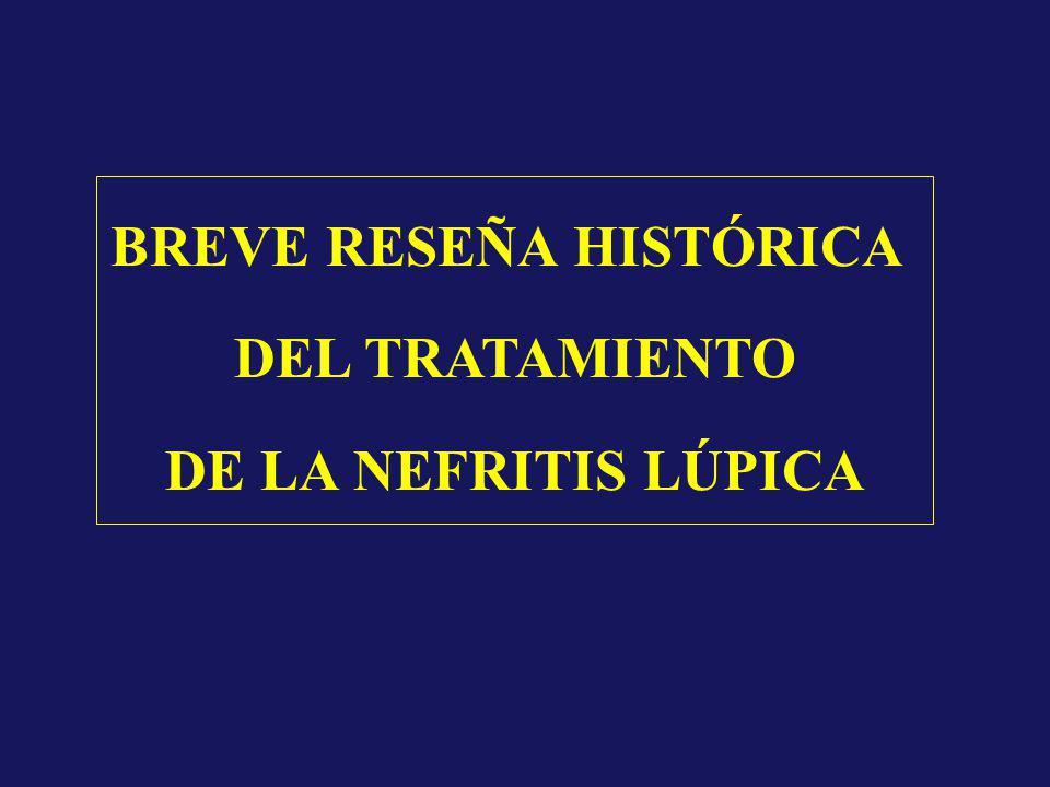 BREVE RESEÑA HISTÓRICA DEL TRATAMIENTO DE LA NEFRITIS LÚPICA