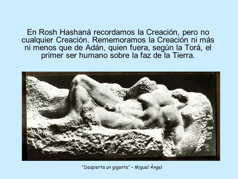 El libro de Génesis narra que el hombre fue creado al final del sexto día de la Creación del mundo.