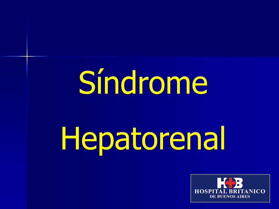 Definición: El SHR es una condición clínica que ocurre en pacientes con enfermedad hepática avanzada e hipertensión portal y caracterizada por una alteración de la función renal y marcada anormalidad en la circulación arterial y actividad de los sistemas vasoactivos renales.