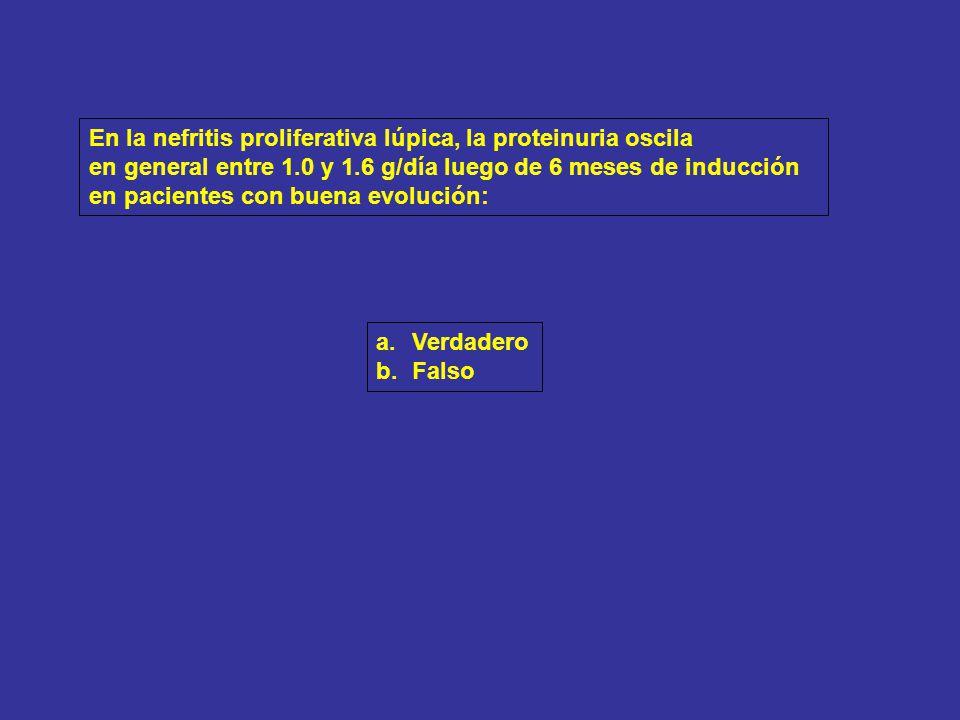 Nefritis Lúpica clase IV-G (A/C).