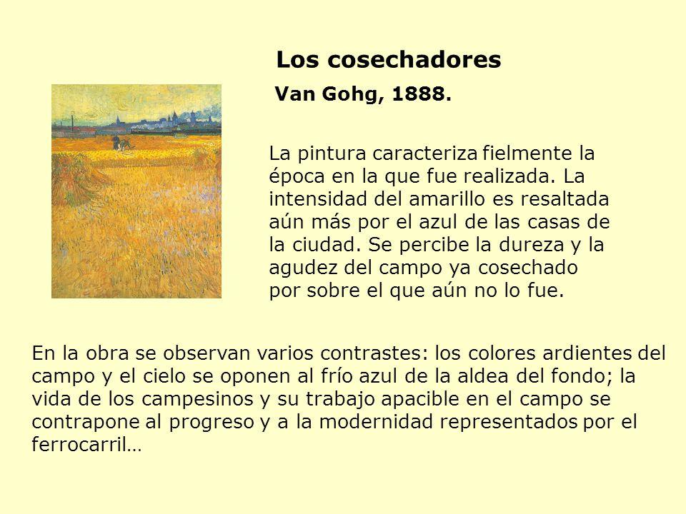 La pintura caracteriza fielmente la época en la que fue realizada. La intensidad del amarillo es resaltada aún más por el azul de las casas de la ciud
