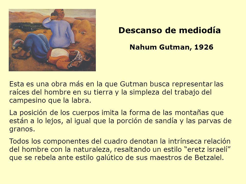 Esta es una obra más en la que Gutman busca representar las raíces del hombre en su tierra y la simpleza del trabajo del campesino que la labra. La po