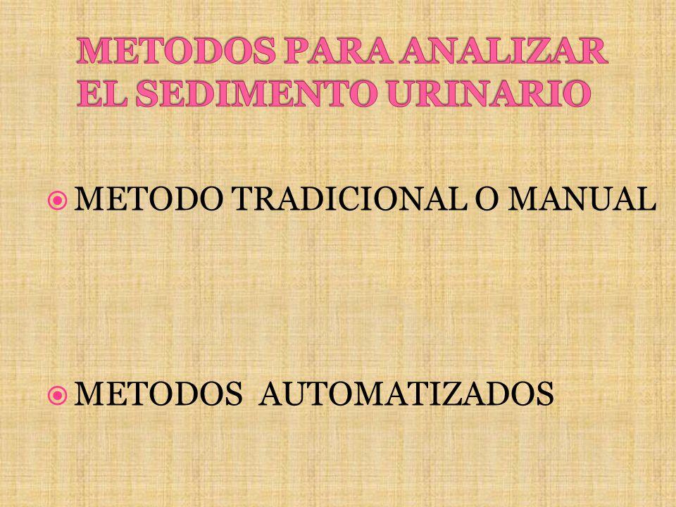 METODO TRADICIONAL O MANUAL METODOS AUTOMATIZADOS