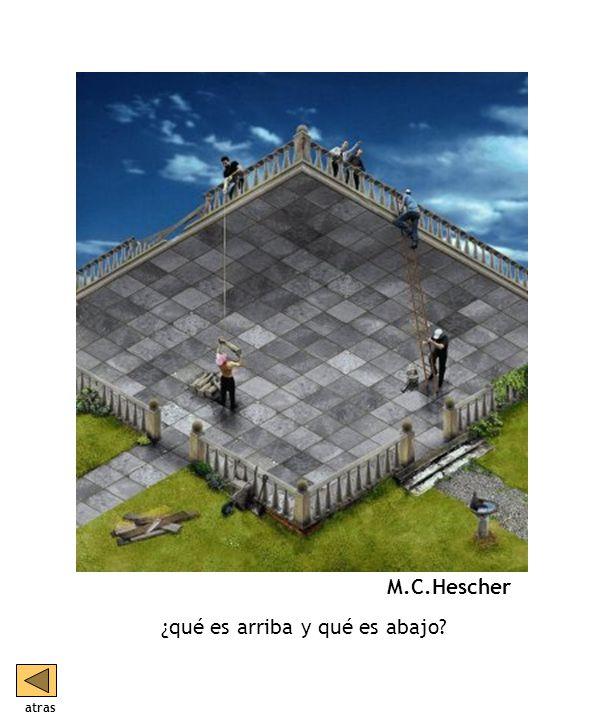 ¿qué es arriba y qué es abajo M.C.Hescher atras