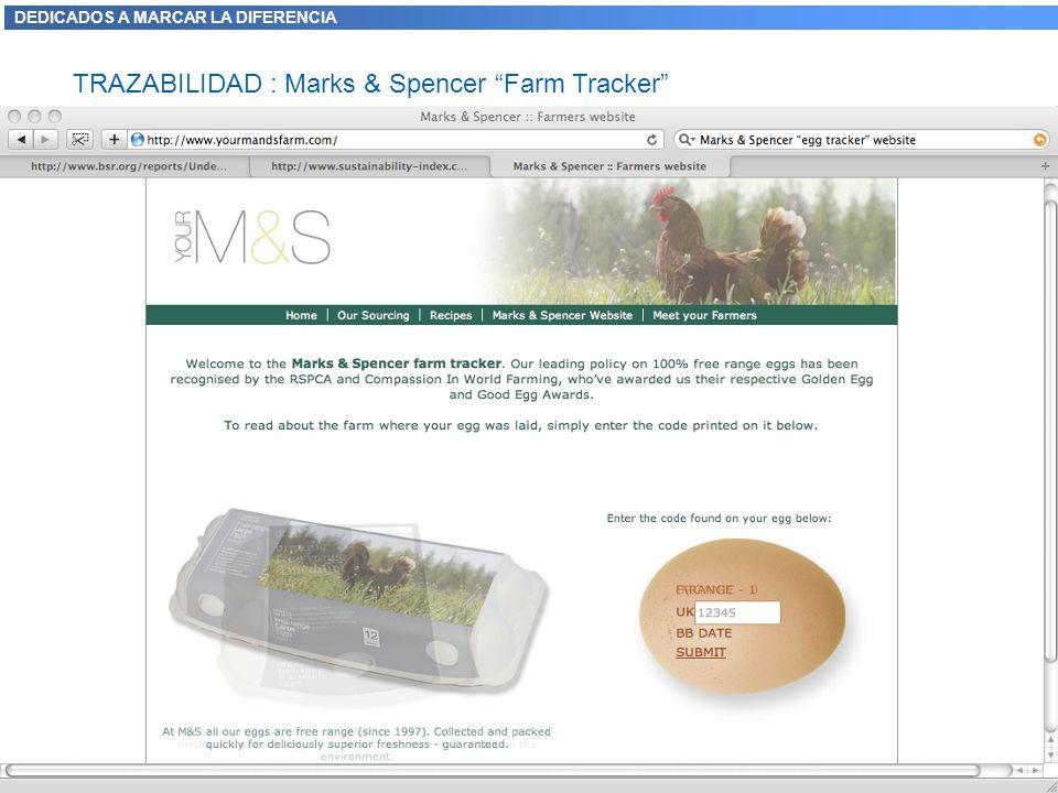DEDICADOS A MARCAR LA DIFERENCIA TRAZABILIDAD : Marks & Spencer Farm Tracker 11