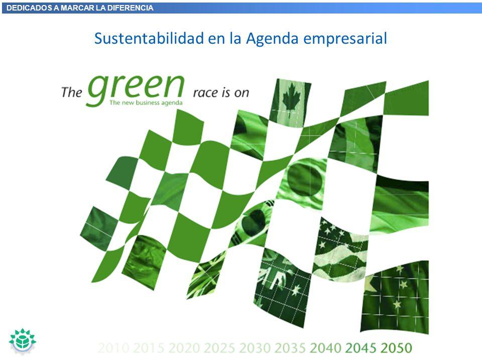 DEDICADOS A MARCAR LA DIFERENCIA Sustentabilidad en la Agenda empresarial Los desafíos de la sustentabilidad afectarán los negocios Las políticas y me