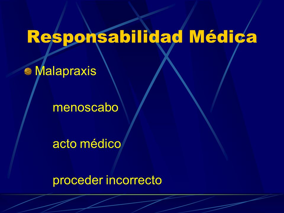 Responsabilidad Médica Responsabilidad Respondere Obligación