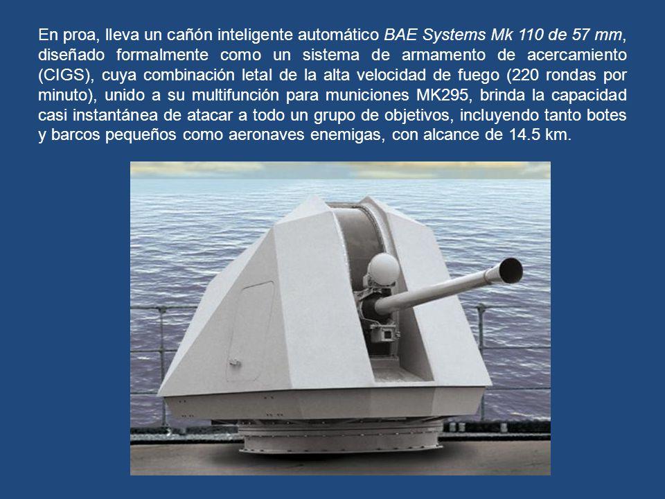 Como nave de asalto, el volumen interior y la carga útil que este navío puede transportar, son mayores que los de algunos destructores. La bodega de c