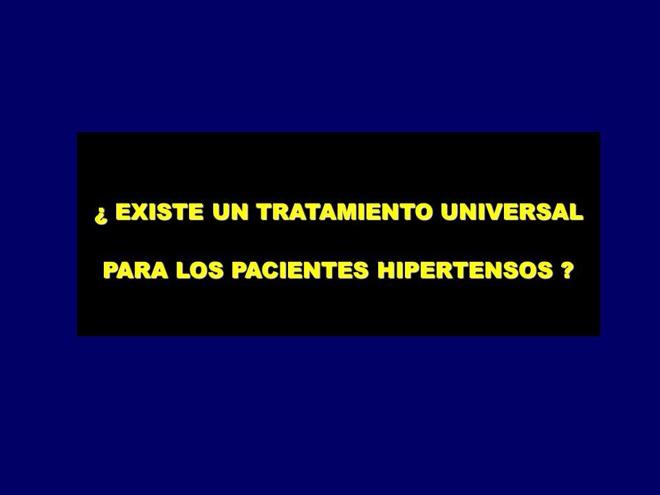 ¿ EXISTE UN TRATAMIENTO UNIVERSAL PARA LOS PACIENTES HIPERTENSOS ?