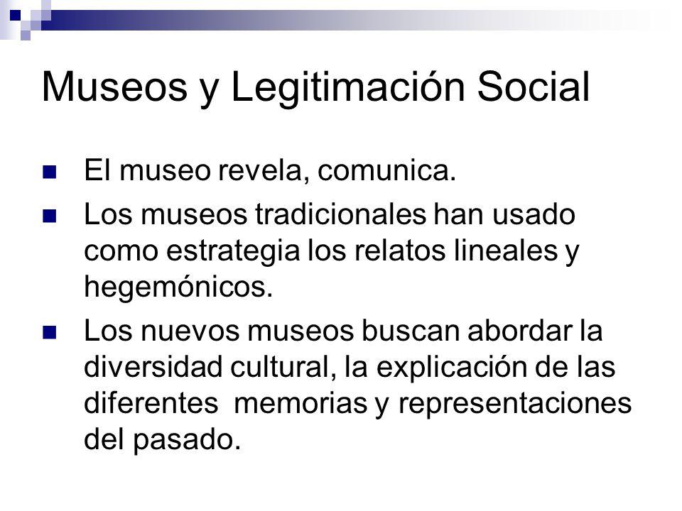 Museos y Legitimación Social El museo revela, comunica.