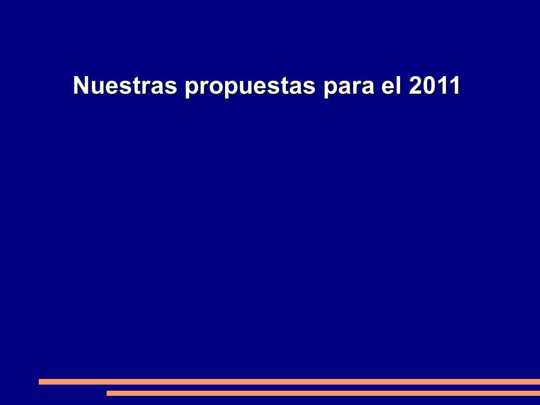 Nuestras propuestas para el 2011