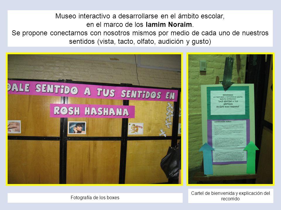 Museo interactivo a desarrollarse en el ámbito escolar, en el marco de los Iamim Noraim. Se propone conectarnos con nosotros mismos por medio de cada