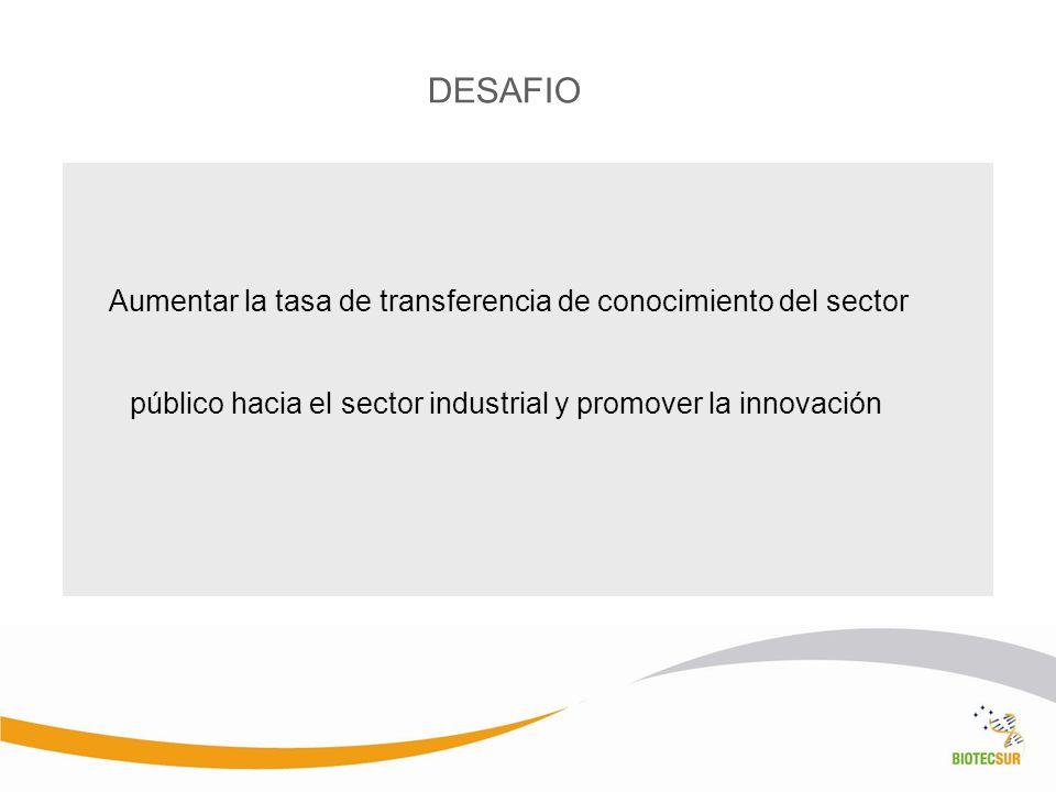 Aumentar la tasa de transferencia de conocimiento del sector público hacia el sector industrial y promover la innovación DESAFIO