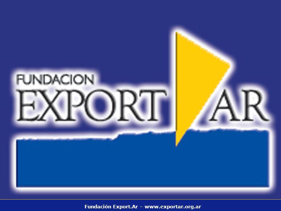 Fundación Export.Ar – www.exportar.org.ar MISIONES COMERCIALES AL EXTERIOR Agendas de Negocios 93 AGENDAS DE NEGOCIOS 64 Empresas Argentinas 23 Paises Visitados 210 Reuniones Comerciales