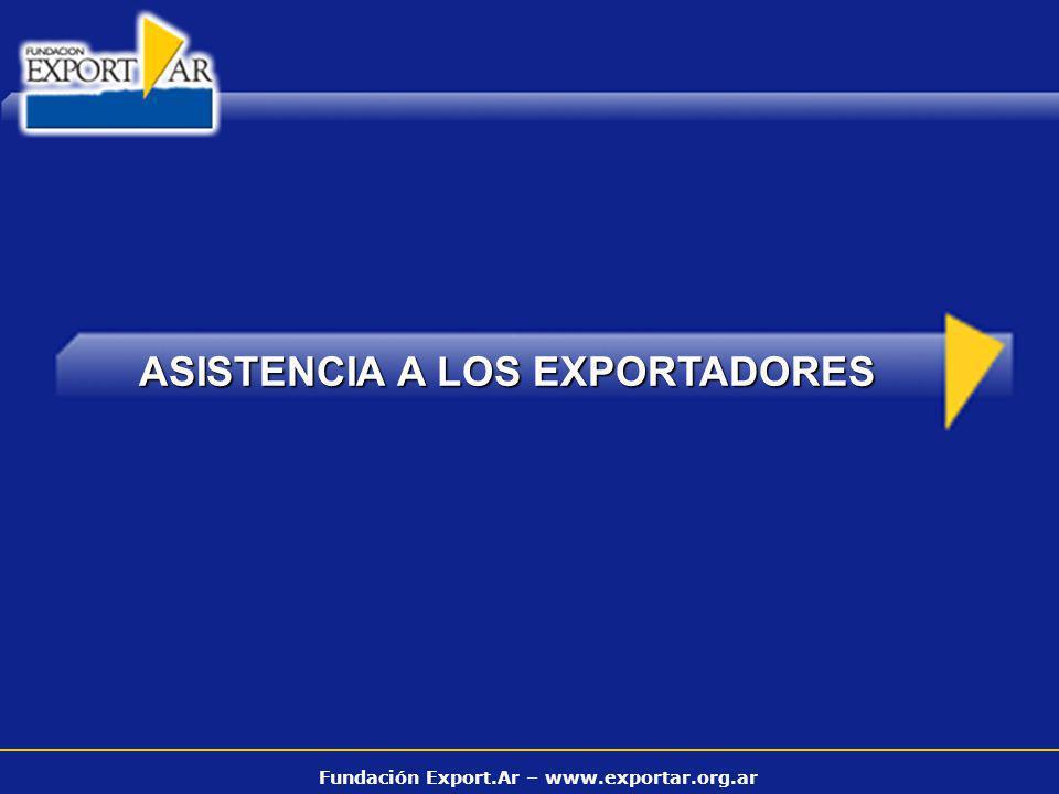 Fundación Export.Ar – www.exportar.org.ar ASISTENCIA A LOS EXPORTADORES