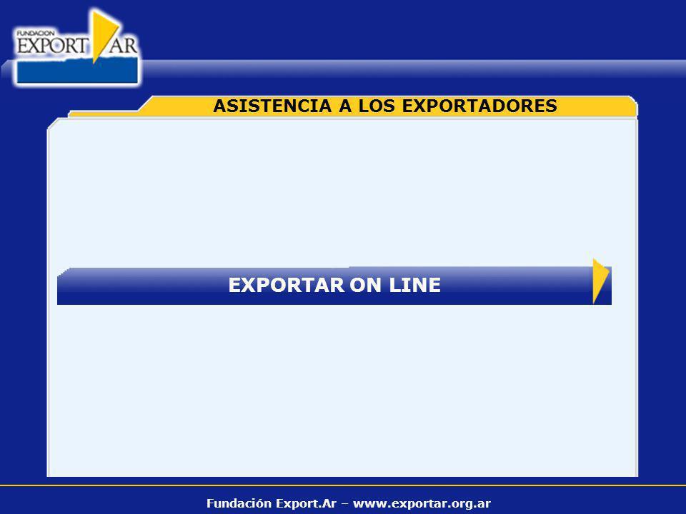 Fundación Export.Ar – www.exportar.org.ar EXPORTAR ON LINE ASISTENCIA A LOS EXPORTADORES