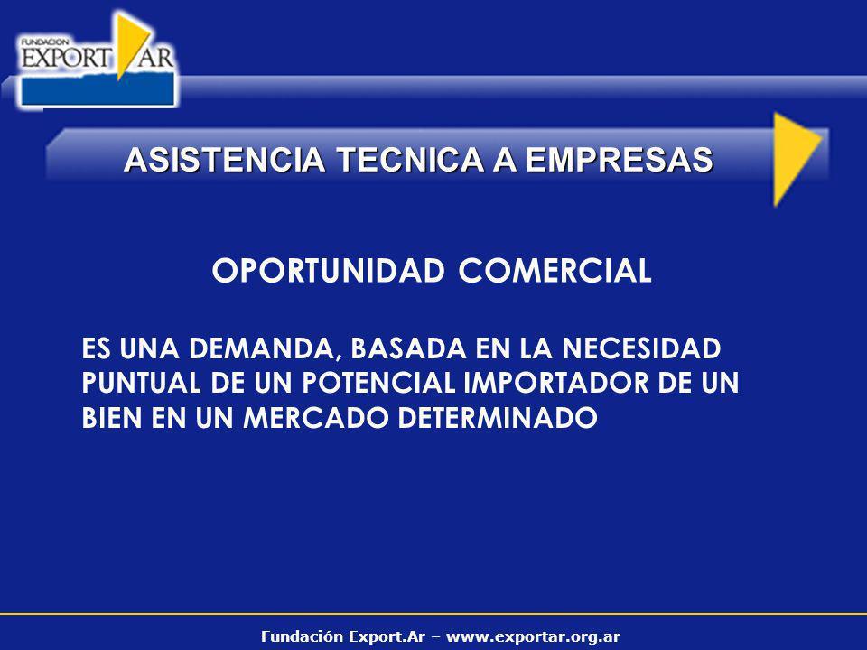 Fundación Export.Ar – www.exportar.org.ar ASISTENCIA TECNICA A EMPRESAS VENTANILLAS DE CONSULTA BRONS & SALAS