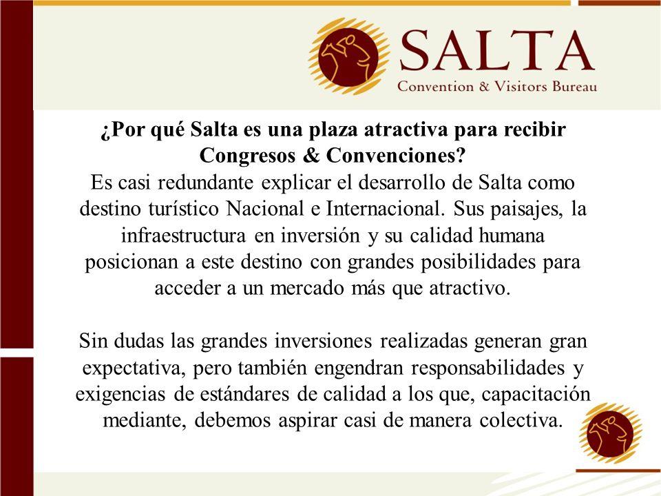 ¿Por qué Salta es una plaza atractiva para recibir Congresos & Convenciones? Es casi redundante explicar el desarrollo de Salta como destino turístico