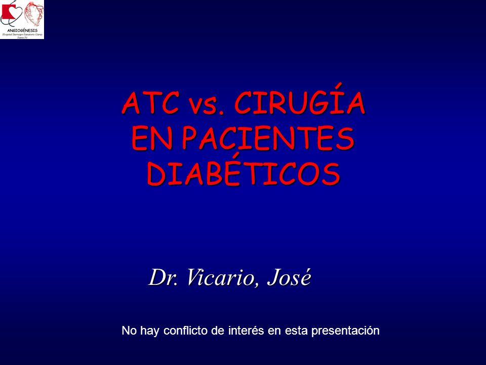 REVASCULARIZACIÓN – DIABETES El problema La diabetes se asocia a comorbilidades (enf.