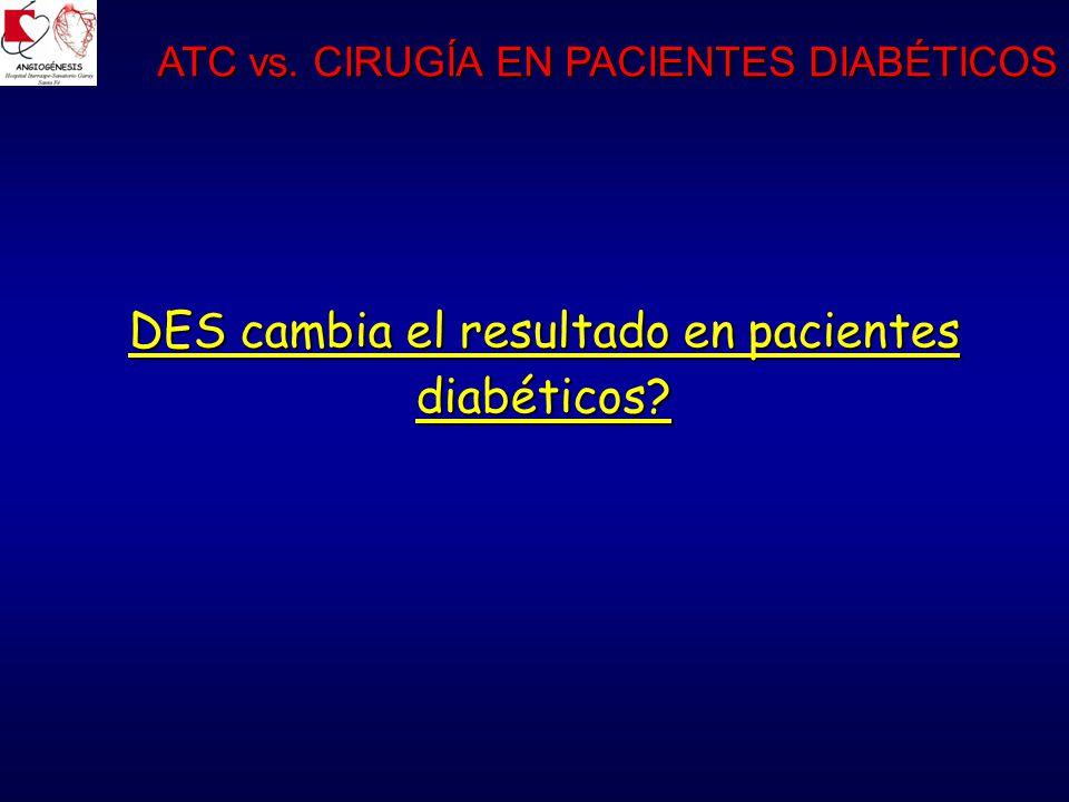 DES cambia el resultado en pacientes diabéticos? ATC vs. CIRUGÍA EN PACIENTES DIABÉTICOS