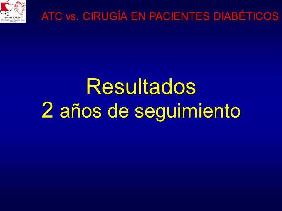 Resultados 2 años de seguimiento ATC vs. CIRUGÍA EN PACIENTES DIABÉTICOS