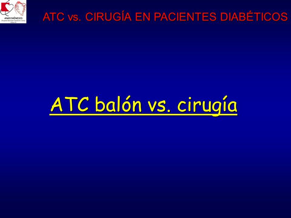 ATC balón vs. cirugía ATC vs. CIRUGÍA EN PACIENTES DIABÉTICOS