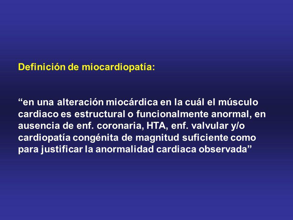 AVANCES EN MIOCARDIOPATÍAS Mejor conocimiento de las distintas miocardiopatías -Screening Familiar -Técnicas de imágenes: Ecocardiografía (DTI, contraste) RMN cardiaca (realce tardío de gadolinio) -Genética y Biología molecular CARACTERIZACIÓN ESTRATIFICACIÓN PRONÓSTICA Y TRATAMIENTO INDIVIDUALIZADO