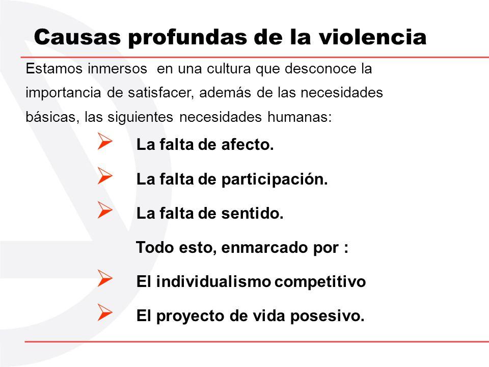 Síntesis de la Propuesta OBJETIVO: Construir una cultura no violenta, es decir, una comunidad solidaria, con instituciones participativas e individuos coherentes.