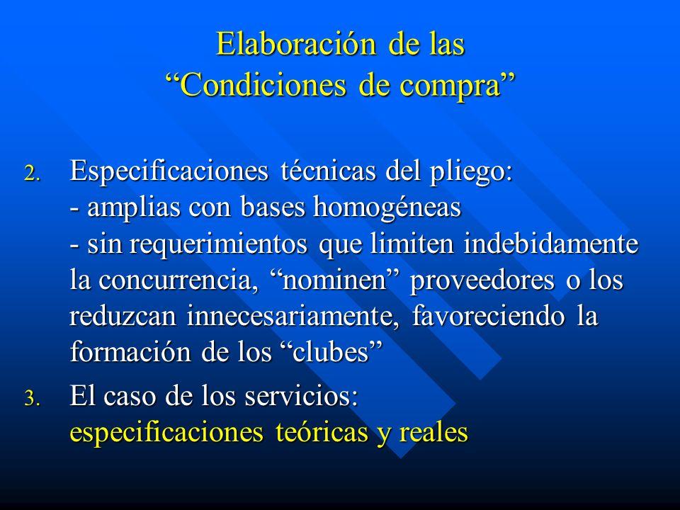Elaboración de las Condiciones de compra 2.