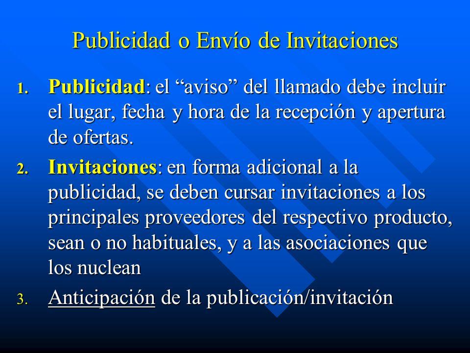 Publicidad o Envío de Invitaciones 1.