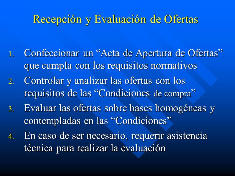 Recepción y Evaluación de Ofertas 1.