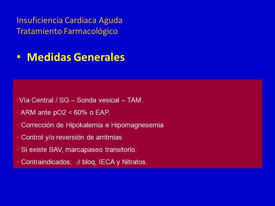 Medidas Generales Neumopatías Infecciones urinarias Control de infecciones intra-hospitalarias DBT: suspender hipoglucemiantes orales y controlar con